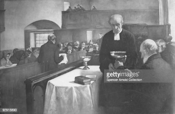 A Scottish Sacrament circa 1900 A painting by H J Dobson RSW