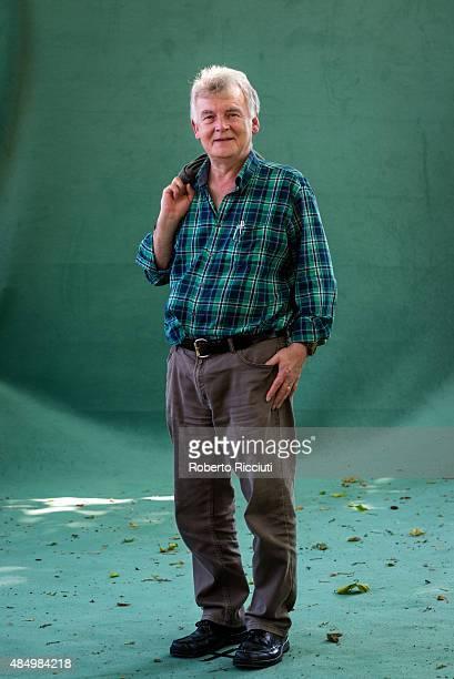 Scottish science fiction writer Ken MacLeod attends a photocall at Edinburgh International Book Festival on August 23 2015 in Edinburgh Scotland