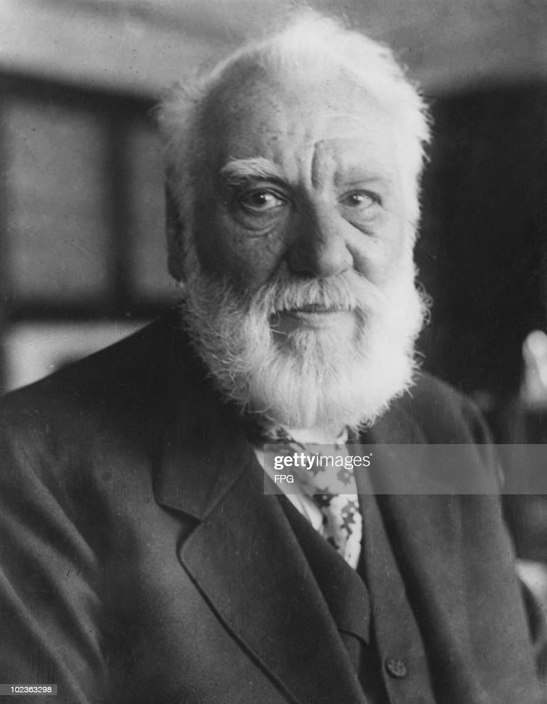 Scottish scientist and inventor <a gi-track='captionPersonalityLinkClicked' href=/galleries/search?phrase=Alexander+Graham+Bell&family=editorial&specificpeople=114041 ng-click='$event.stopPropagation()'>Alexander Graham Bell</a> (1847 - 1922), circa 1920. Bell's best known inventions are the telephone and the metal detector.