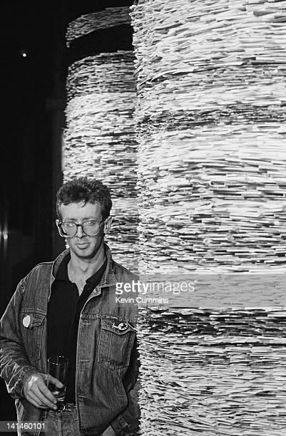 Scottish sculptor and installation artist David Mach with his installation at the Hacienda nightclub Manchester December 1986 The installation...