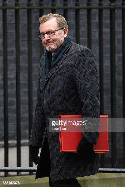Scottish Secretary David Mundell arrives for the weekly Cabinet meeting at Downing Street on January 31 2017 in London England The Government is set...