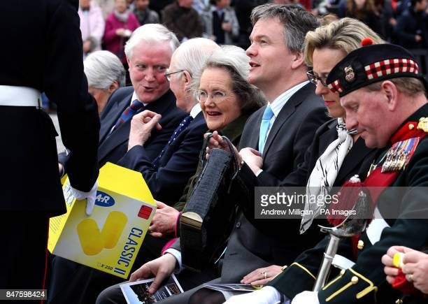 Scottish Secretary Michael Moore for a 21gun royal salute to celebrate the 86th birthday of the Queen at Edinburgh Castle PRESS ASSOCIATION Photo...