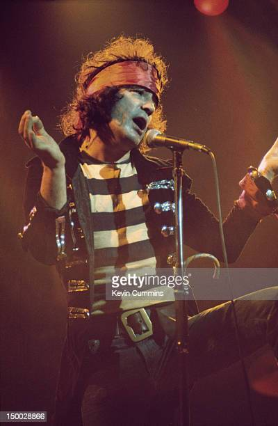 Scottish singer Alex Harvey performing with The Sensational Alex Harvey Band at the Free Trade Hall Manchester May 1976