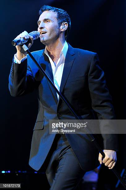 Scottish singer and song writer Marti Pellow performs on stage at The O2 Arena on June 2 2010 in London England