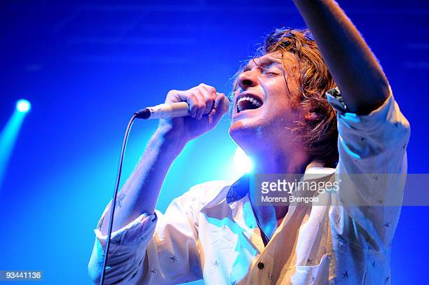 Scottish singer Paolo Nutini performs at Palasharp on November 26 2009 in Milan Italy