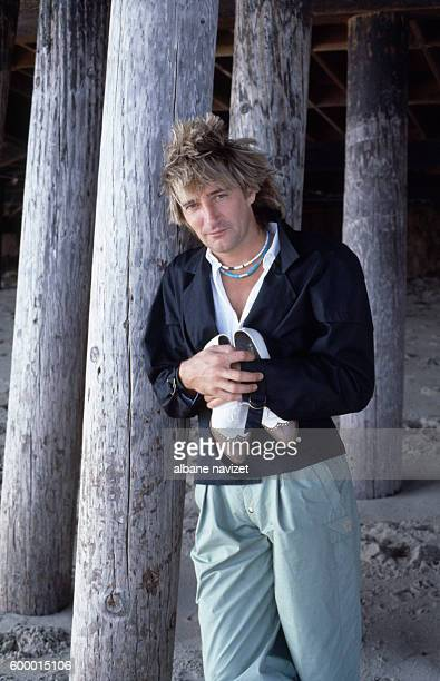 Scottish singer Rod Stewart in Los Angeles.