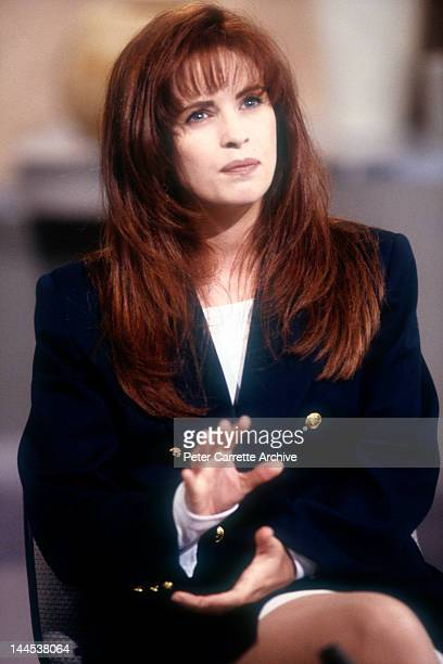 Scottish singer Sheena Easton appearing on the 'Midday with Ray Martin' television show on August 02 1991 in Sydney Australia