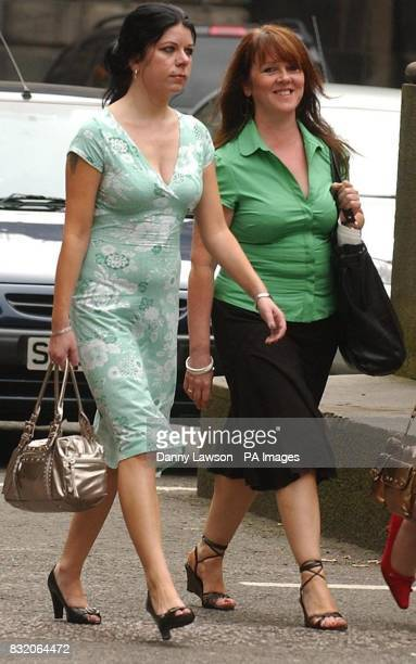 Scottish Socialist Party member Barbara Scott and MSP Rosie Kane arrive at the Court of Session in Edinburgh where former party leader Tommy...