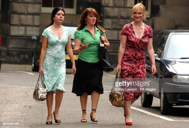 Scottish Socialist Party member Barbara Scott and MSPs Rosie Kane and Carolyn Leckie arrive at the Court of Session in Edinburgh where former party...