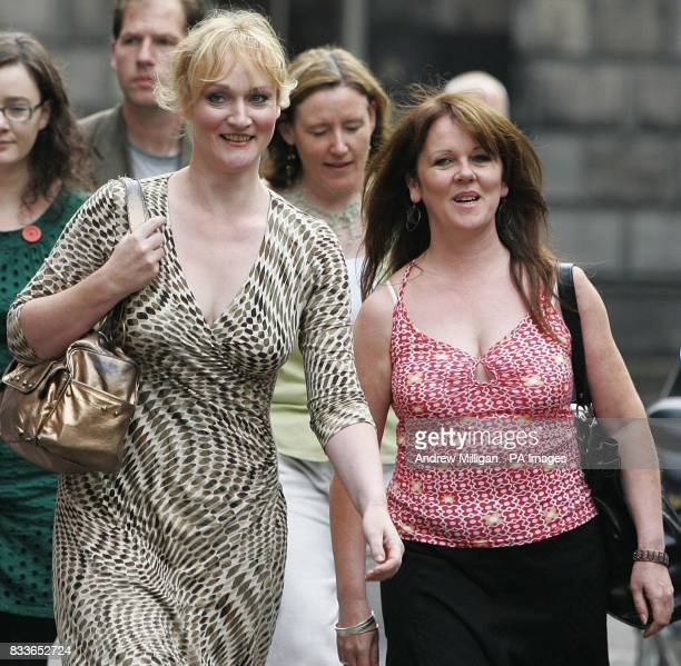 Scottish Socialist Party MSPs Carolyn Leckie Rosie Kane and Frances Curran outside the Court of Session in Edinburgh where former Scottish Socialist...
