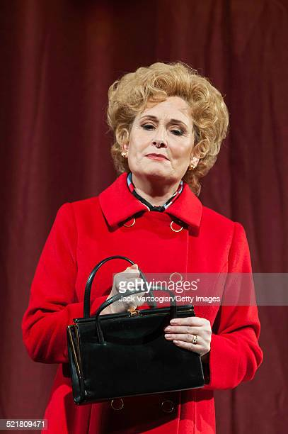 Scottish soprano Janis Kelly performs in the Metropolitan Opera/Peter Sellars production of 'Nixon in China' at the final dress rehearsal prior to...