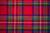 Scottish style fabric, tartan plaid texture