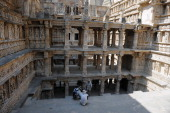 Scottish Ten members work during the process of a threedimensional digital scanning at the Rani Ki Vav Stepwell in Patan some 120 kms from Ahmedabad...