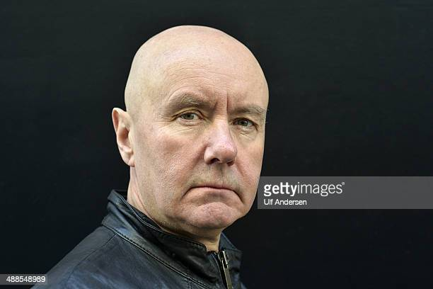 Scottish writer Irvine Welsh poses during portrait session held on April 30 2014 in Paris France