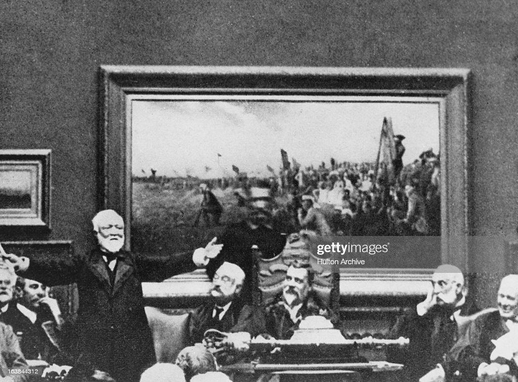 Scottish-American industrialist Andrew Carnegie (1835 ...