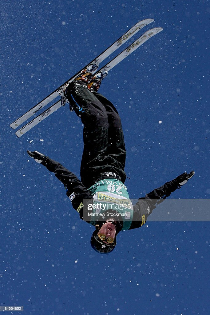 Scotty Bahrke during practice for the aerials qualification during the Visa Freestyle International, a FIS Freestyle World Cup event, at Deer Valley Resort January 30, 2009 in Park City, Utah.