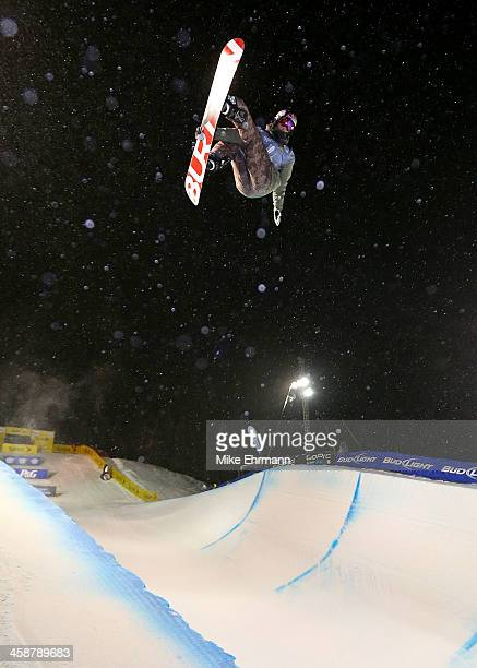 Scotty James of Australia competes during finals for the FIS Snowboard Halfpipe World Cup at US Snowboarding and Freeskiing Grand Prix on December 21...