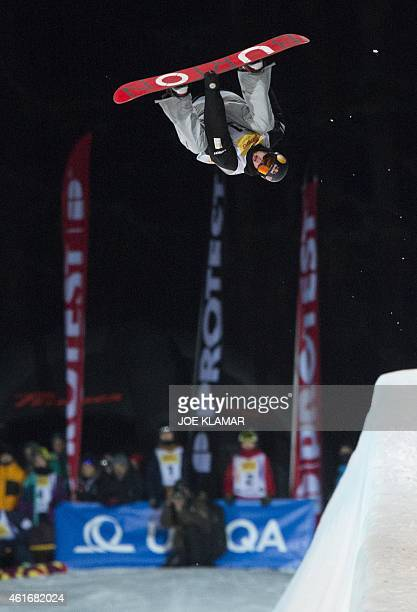 Scotty James of Australia competes during the Men's Snowboard Halfpipe competition of the FIS Freestyle and Snowboarding World Ski Championships 2015...