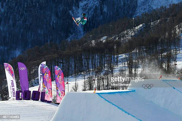 Scotty James of Australia competes in the Men's Slopestyle Qualification during the Sochi 2014 Winter Olympics at Rosa Khutor Extreme Park on...