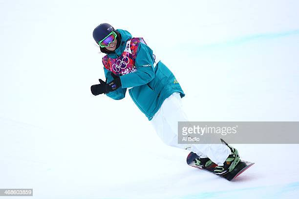 Scotty James of Australia competes in the Snowboard Men's Halfpipe Qualification Heats on day four of the Sochi 2014 Winter Olympics at Rosa Khutor...