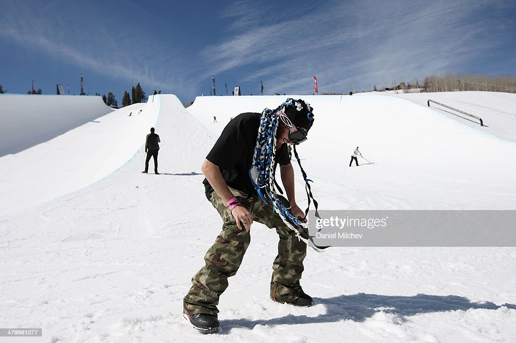<a gi-track='captionPersonalityLinkClicked' href=/galleries/search?phrase=Scotty+Lago&family=editorial&specificpeople=787593 ng-click='$event.stopPropagation()'>Scotty Lago</a> dances during practice at Red Bull Double Pipe on March 21, 2014 in Aspen, Colorado.