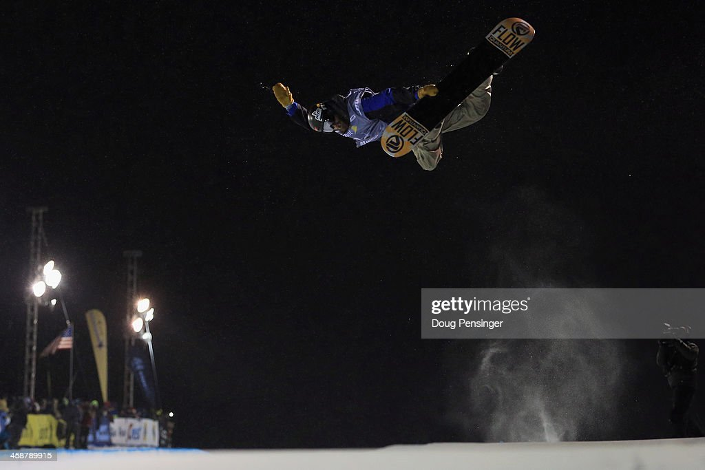 <a gi-track='captionPersonalityLinkClicked' href=/galleries/search?phrase=Scotty+Lago&family=editorial&specificpeople=787593 ng-click='$event.stopPropagation()'>Scotty Lago</a> rides to 10th place in the men's FIS Snowboard Halfpipe World Cup at the U.S. Snowboarding and Freeskiing Grand Prix on December 21, 2013 in Copper Mountain, Colorado.