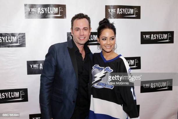 Scotty Mullens and Tristin Mays attend the Premiere Of The Asylum's 'King Arthur And The Knights Of The Round Table' at The Independent Theater on...