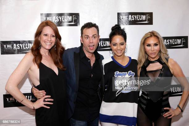 Scotty Mullens Tess Broussard and Tristin Mays attend the Premiere Of The Asylum's 'King Arthur And The Knights Of The Round Table' at The...