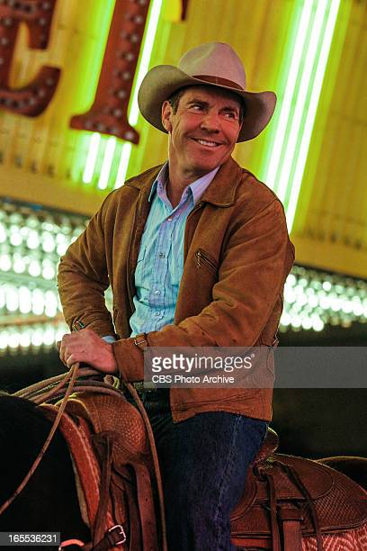 'Scoundrels' Sheriff Lamb rides his horse down Fremont St when he needs to rope an escaped steer on VEGAS Friday April 19 on the CBS Television...