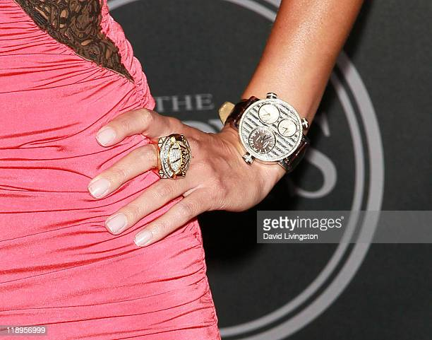 NBA scout BonnieJill Laflin attends Hennessey's official ESPY preParty 'Vault Of Secrets' at Spot 5750 on July 12 2011 in Hollywood California