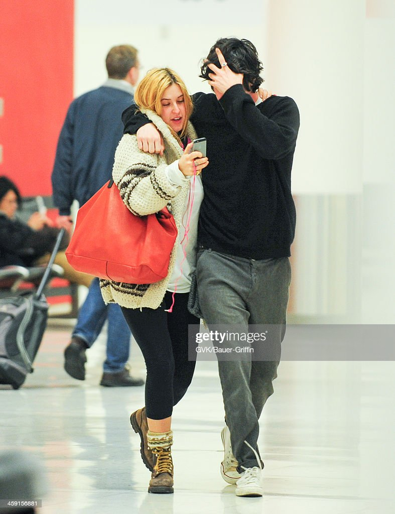 Scout Willis and boyfriend are seen at LAX airport on December 22, 2013 in Los Angeles, California.