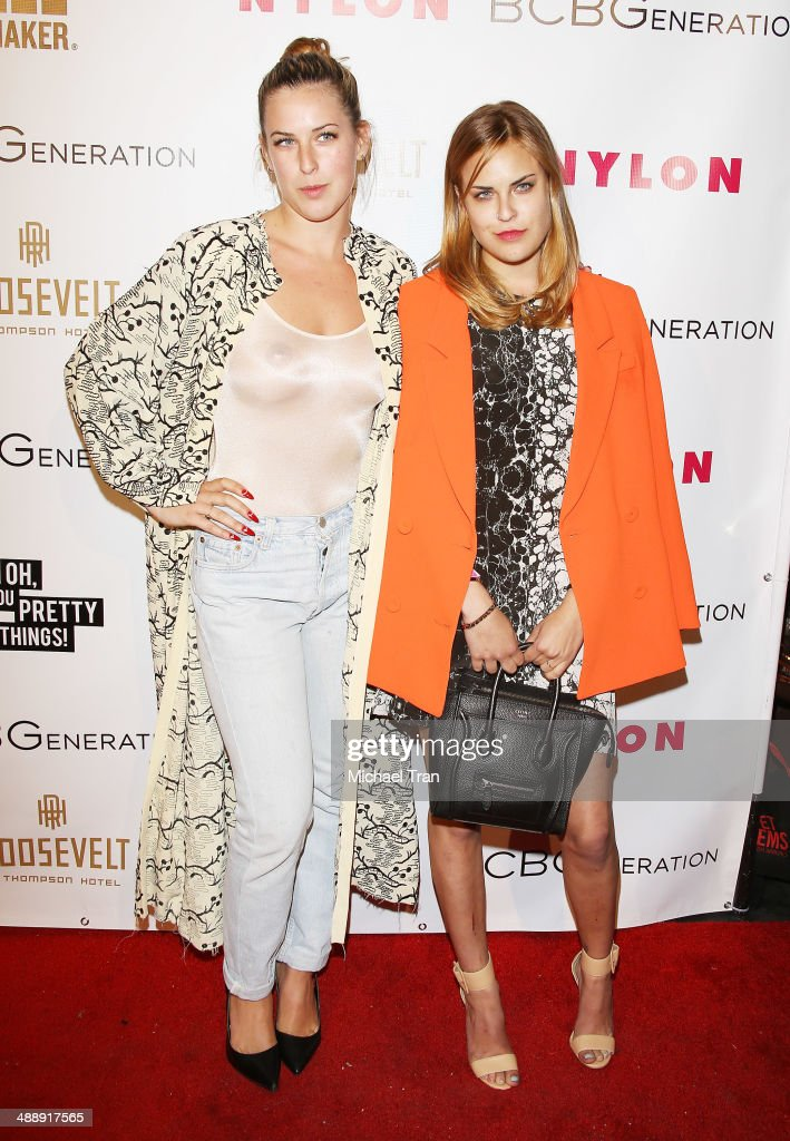 Scout Willis (L) and Tallulah Willis arrive at the Nylon Magazine May Young Hollywood Issue Party held at Tropicana Bar at The Hollywood Rooselvelt Hotel on May 8, 2014 in Hollywood, California.