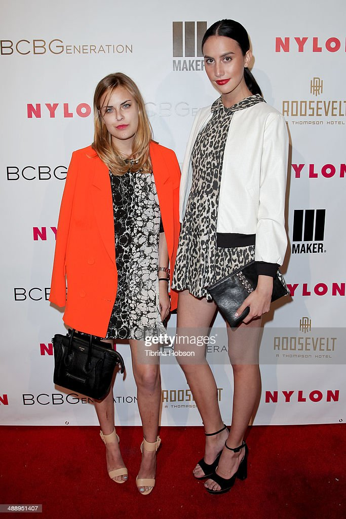 Scout Willis (R) and Tallulah Willis (L) attend the Nylon Magazine May young Hollywood issue party at Tropicana Bar at The Hollywood Rooselvelt Hotel on May 8, 2014 in Hollywood, California.