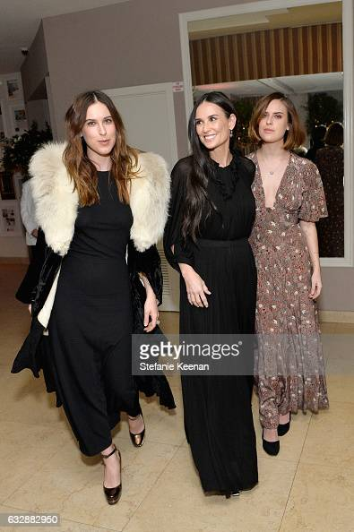 Scout Willis Demi Moore and Tallulah Belle Willis attend Harper's BAZAAR celebration of the 150 Most Fashionable Women presented by TUMI in...