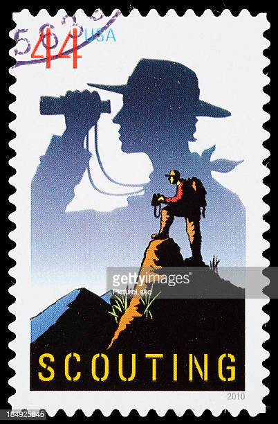 USA Scouting postage stamp