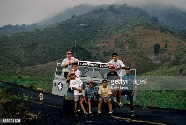Scouting was established on Ascension Island in 1973 and the Scoutmaster John Hobson was also the island's dentist 27th May 1997 on Ascension a small...