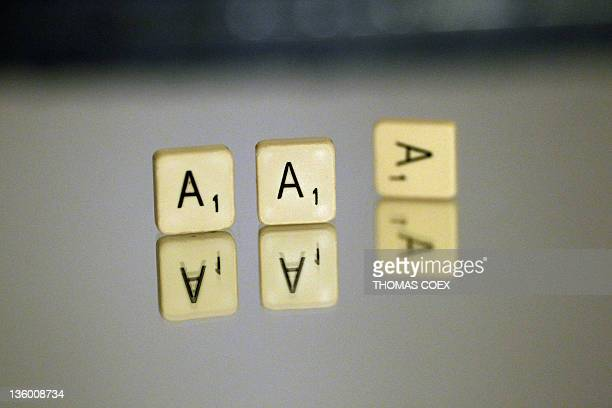 Scrabble 'A' lettered tiles are displayed on December 15 2011 in Paris The Standard and Poor's ratings agency warned France Germany and 13 other...