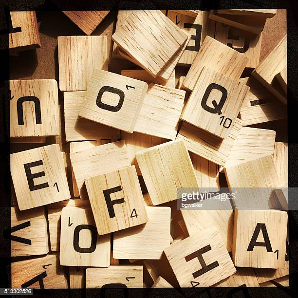 Scrabble Letters in a Messy Pile
