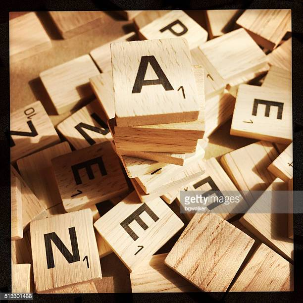 Scrabble Letters in a Pile