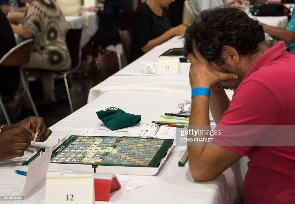 Scrabble players participate in the World Scrabble Championships on August 29 2016 at the Grand Palais in Lille The World Scrabble Championships take...
