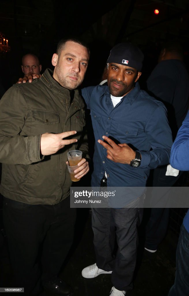 DJ Scram Jones andDJ Clue attend the Jay-Z & D'Usse Super Bowl Party at The Republic on February 2, 2013, in New Orleans, Louisiana.