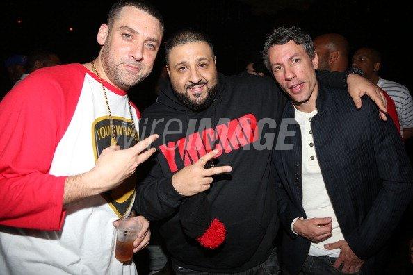 Scram Jones DJ Khaled and Barry Mullineaux attend the