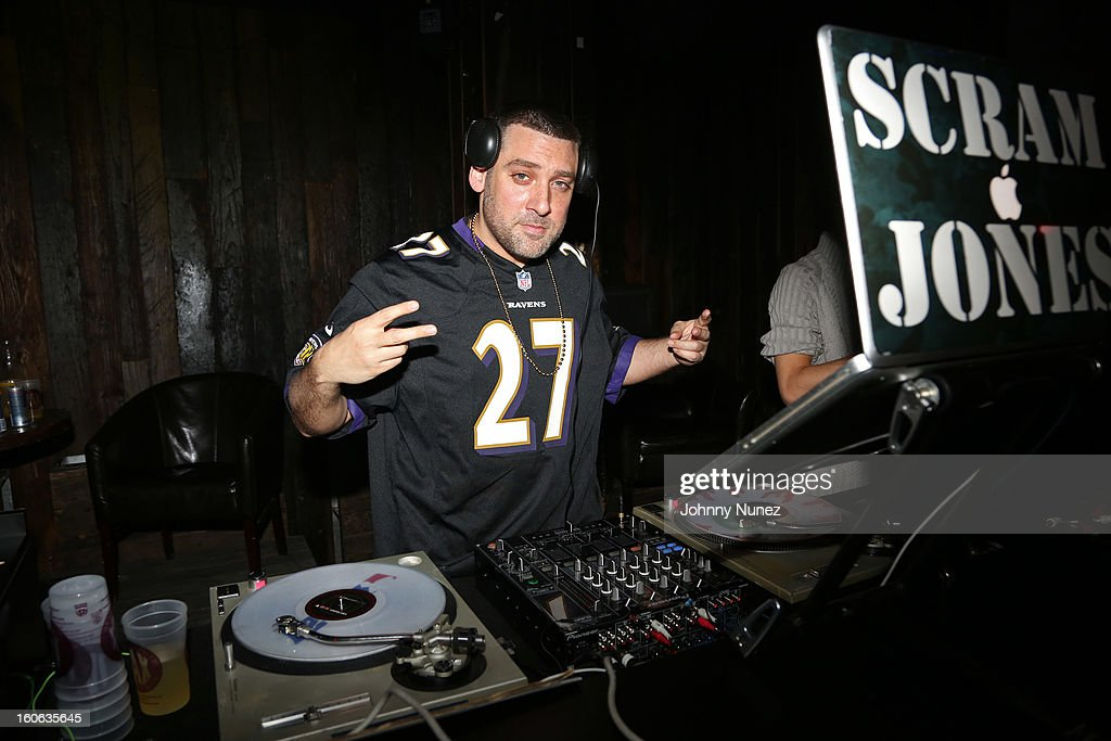 DJ Scram Jones spins at the Greenhouse New York Super Sunday NOLA After Party at Jackson Brewery Bistro Bar on February 3, 2013 in New Orleans, Louisiana.