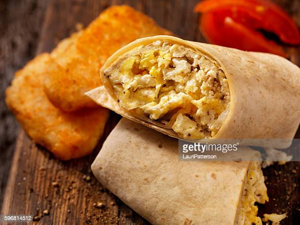 Scrambled Egg and Cheese Breakfast Wrap