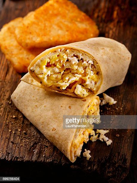 Scrambled Egg and Cheese Breakfast Wrap