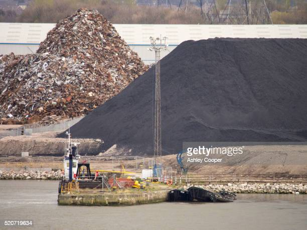 Scrap metal and coal at the Port of Tyne at North Shields near Newcastle, UK