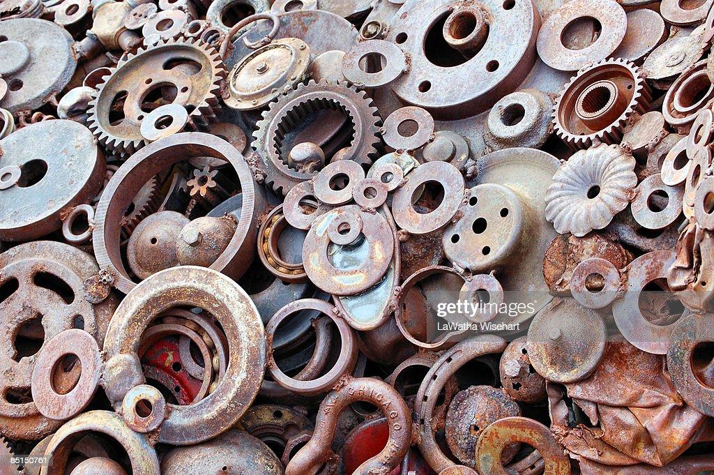 Scrap Metal Art : Stock Photo