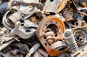 mechanical scrap metal wait for recycle