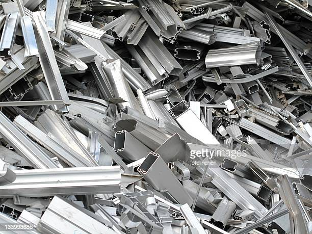Scrap metal pieces laying in a pile