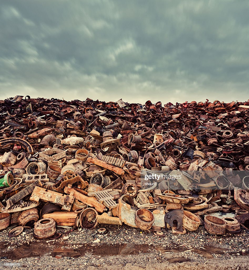 Scrap Metal Skies : Stock Photo